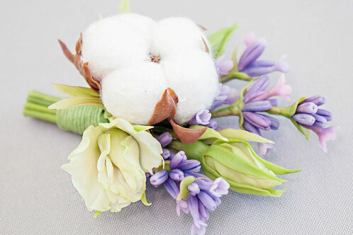 Brooch with lavender and cotton box • 2015